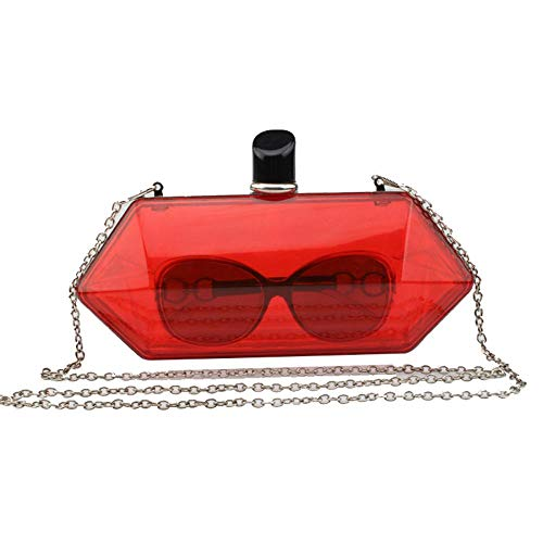 Womens Candy Fluorescent Wedding Evening Bride Red Clutches Handbag Color Purses rqwrCfHv