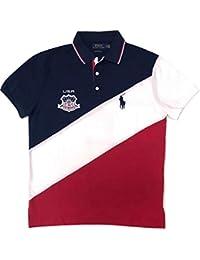Mens Big Pony Country Custom Fit Mesh Polo Shirt