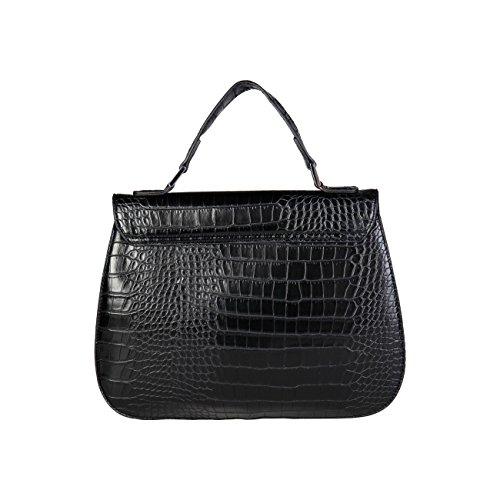 Laura Genuine Designer Black Biagiotti Women Handbag z8nqPx5