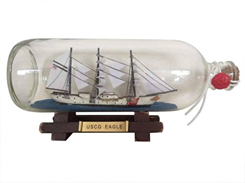 Hampton Nautical United States Coast Guard USCG Eagle Model Ship in A Glass Bottle, 9