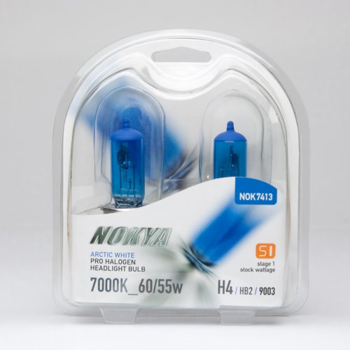 Nokya H4/9003 Headlight Bulbs — Arctic White 7000K 60/55W (Stage (Nokya Arctic White)