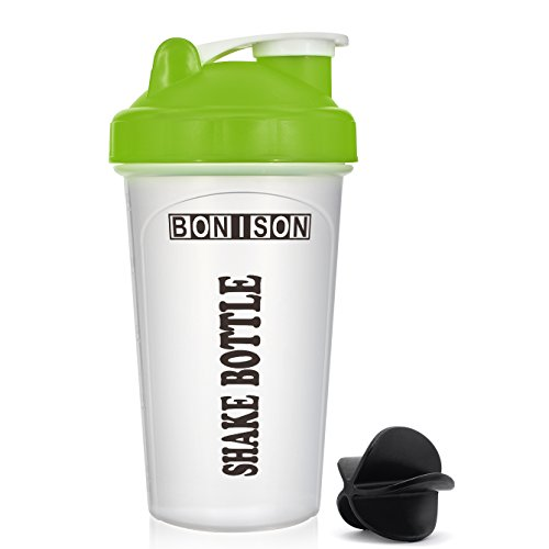 Clearance Sale  Mix Whip Blend   Shake Clear Classic Colored Screw Top Shaker Bottle Sport Mixer Smoothie Protein Weight Loss Shakes   Powders  14Oz Green