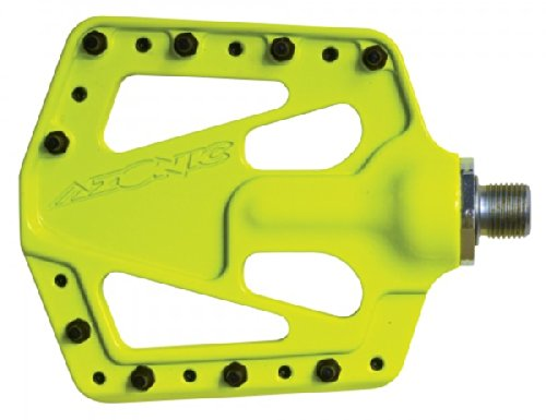 Azonic Flat Iron Pedal, Neon Yellow, 26-Inch