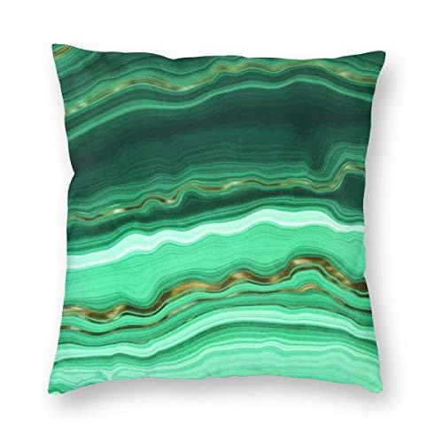 (FEICHANGH Gold and Malachite Marble Art Print Throw Pillow Case Cushion Cover 18