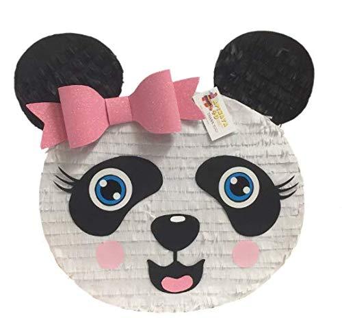 APINATA4U Large Panda Head Pinata with Pink Glitter Bow Accent (Kung Fu Panda Pinata)