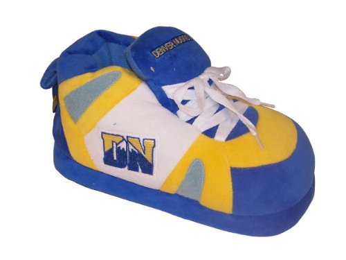 Happy Feet Comfy Feet Mens and Womens Officially Licensed NBA Sneaker Slippers Denver Nuggets EhV85zT