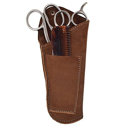 Rustic Leather Barber Scissors/Combs/Tools Belt Holster Handmade by Hide & Drink :: Swayze Suede by Hide & Drink