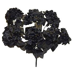 "20"" Satin Hydrangea Bush Silk Wedding Flowers Bouquets Centerpieces Home Party Decor 7 Hydrangeas 105"