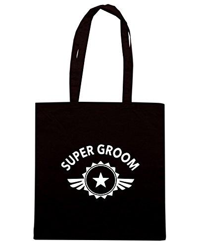 T-Shirtshock - Bolsa para la compra MAT0074 Super Groom Maglietta Negro