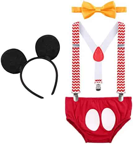 3e7fa4d20 Baby Boys First Birthday 1st/2nd/3rd Costume Cake Smash Outfits Y Back  Suspenders