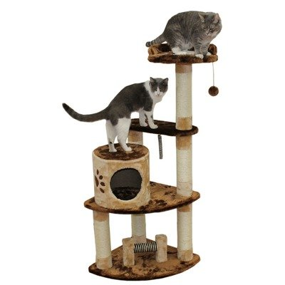 Kitty Mansions Florence Cat Tree, Brown/Beige, My Pet Supplies