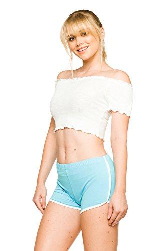 Women's J2 Love Cotton Dolphin Shorts, X-Small, Sky Blue