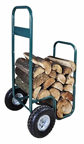forestfox™ Log Cart & Store with Weatherproof Cover Split Firewood Twin Tyres Transport Woo