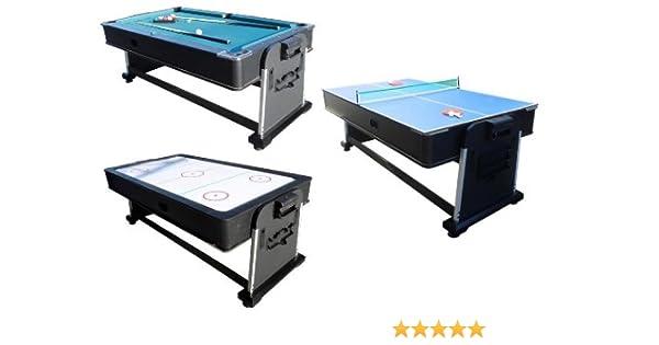 3 en 1 Multi Juegos Mesa – Piscina, Hockey de Aire y Ping Pong ...