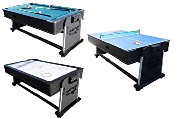 908dab9940fec Image Unavailable. Image not available for. Colour  3 in 1 Rotating Multi  Game Table - Pool ...