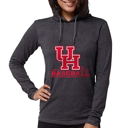 CafePress Houston Cougar Baseball Womens Hooded Shirt Heather Grey ()