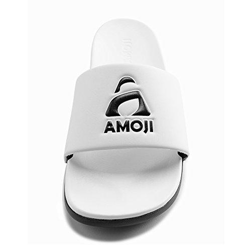 Sandal Unisex Athletic Slide Amoji White qt8xOdqZ4