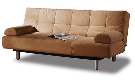 Brand New Atherton Home Manhattan Convertible Futon Sofa Bed and Lounger, Khaki