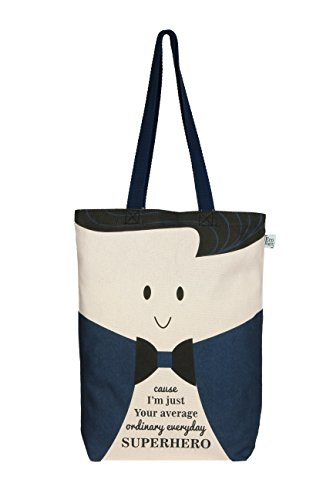 Super Hero Tote Bag - EcoRight Canvas 100% Ecofriendly Gusset Tote Bag