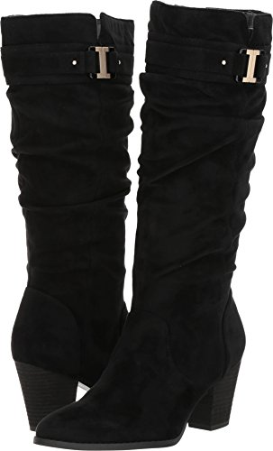 Black Microfiber Knee High Boots - Dr. Scholl's Women's Devote Riding Boot, Black Microfiber,9 M US