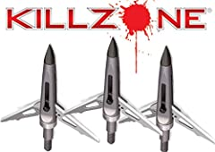 The New Archery Products kill zone 100 Grain broad head is a 2 blade rear-deploying broad head that packs a devastating 2 inch cutting diameter. The field-point accurate kill zone uses NAP's unique spring-clip design which ensures your blades...