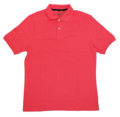 Club Room Mens Textured Collared Polo Shirt Pink XXL