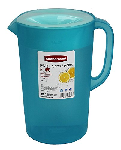 (Rubbermaid  26074 Limited Edition Dishwasher Safe Pitcher, 1 Gallon, Blue)