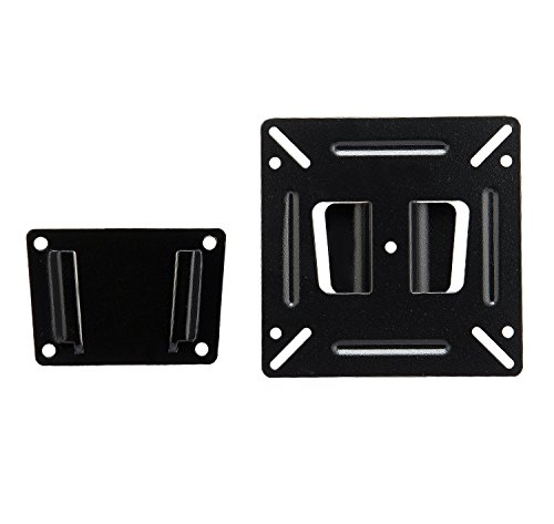 Computer Monitor Wall Mount Fixed TV Bracket JinNiu Mosts 14-24 Inches LED LCD PDP Plasma TVs up to VESA 100 x 100mm and 15KG Max Load ()