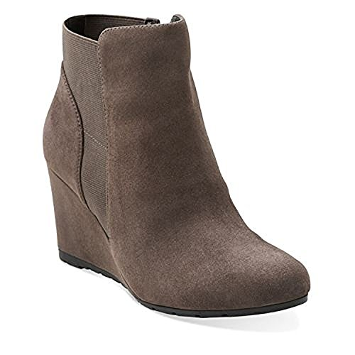 Clarks Rosepoint Bell Ankle Boots - Grey Suede 8.5 M, Grey S