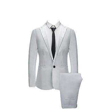 Bibao traje de 2 piezas para hombre, ajustado, con botones ...