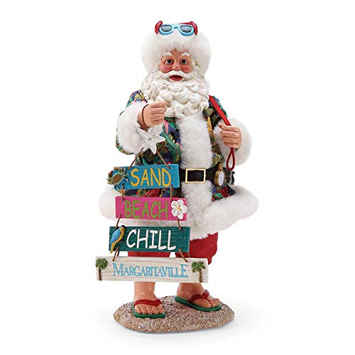 Department 56 Possible Dreams Santa 6000797 This Way To Margaritaville Figurine, 10.5