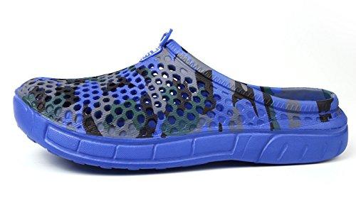 Chaussures Jardin Sabots Homme Plage Profond de Outdoor Chaussons Bains de Piscine Bleu Sandales Salle Eagsouni Femme Mules fT1qtfx