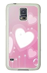 Samsung S5 sparkle cases Love Hearts PC White Custom Samsung Galaxy S5 Case Cover