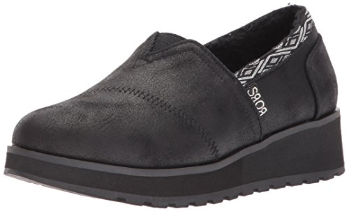 Skechers BOBS Women's Keepsakes High - Snow Spell Moccasin, Black