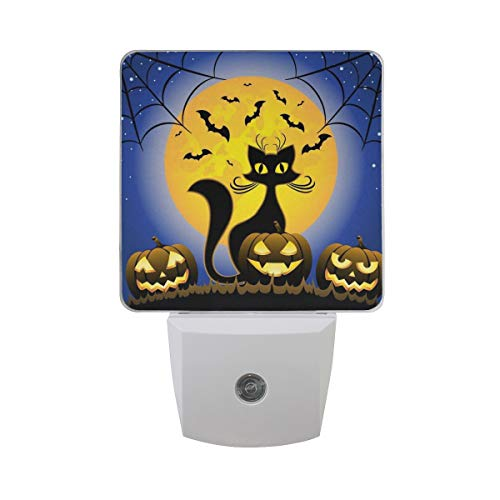 Naanle Holloween Cat LED Plug-in Night Light, 2 Pack, Night Light Lamp Emergency Lighting with Dusk to Dawn Automatic Sensor for Hallway Bedroom Bathroom Kitchen]()