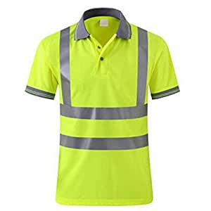 GOGO - Polo de manga corta para hombre, alta visibilidad, camiseta ...
