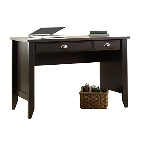 2-Drawer Traditional Home Office Computer Desk with Silver Nickel Pulls in Jamocha Wood by Andover Mills