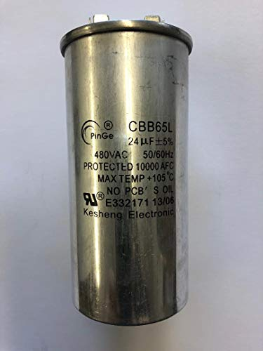 (6 Pieces CAP-MH400-CWA HID Capacitor 24UF/400V for 400W Metal Halide Ballast for MH400W/Ballast. Ballast operating at 120/208/240/277/480 Volts)
