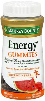 Nature's Bounty Energy Gummies Watermelon Flavored - 60 ct, Pack of 3