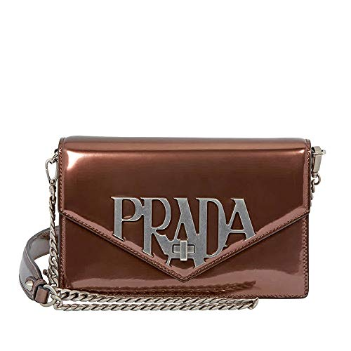 Prada Medium Calf Leather Crossbody - Brown