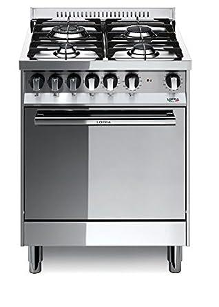 Lofra M66GV/C Cucina a Gas, Acciaio: Amazon.it: Grandi elettrodomestici