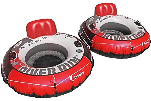 (Intex Heavy Duty River Run Tube with Cover (2 Pack) | Floating Lounger | River Tube)
