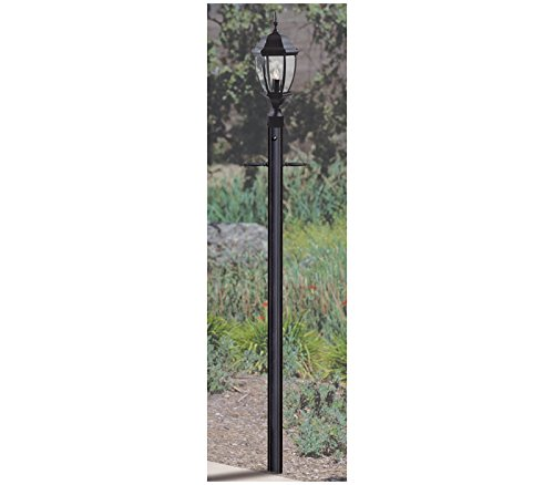84' Matte (Craftmade Z8992-05 Fluted Direct Burial with Photocell Post, 84