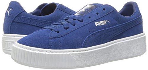 PUMA Women's Suede Platform core Fashion Sneaker Peacoat, 9.5 M US by PUMA (Image #6)