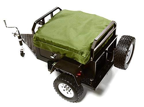 - Integy RC Model Hop-ups C27994BLACK Alloy Realistic Model Camping Trailer w/Roof Top Tent for 1/10 RC 390x195x175mm
