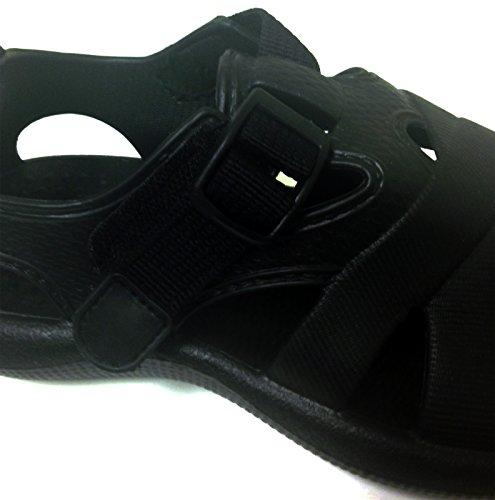 E-2903ld Femmes Sabots Sandales Sangles Eau Flip Flops Pantoufles Chaussures Jardin Plage Piscine Noir, Marron, Bleu, Kaki, Marine, Vert Noir