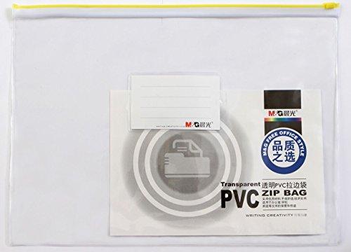 Clear Transparent PVC A5 Zip Wallet Pencil Case Make-up Bag with business...