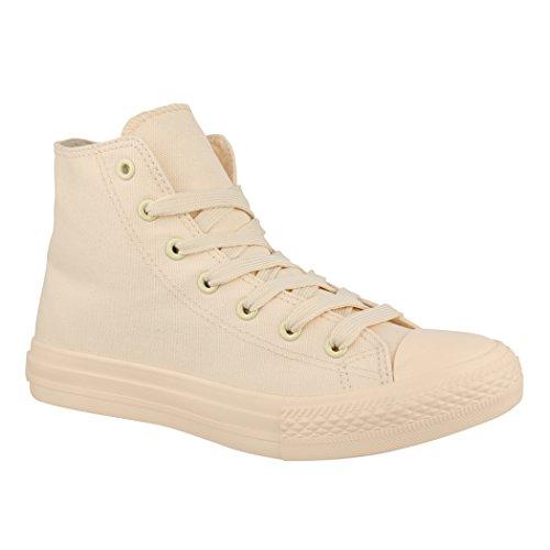 Elara Unisex Sneaker | De Baskets Unisexe Damen Herren High Top Chunkyrayan Beige One Colour Haut Sommet Une Couleur