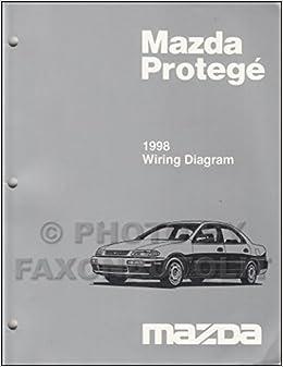 mazda protege 1998 wiring diagram: mazda motor corporation: amazon com:  books
