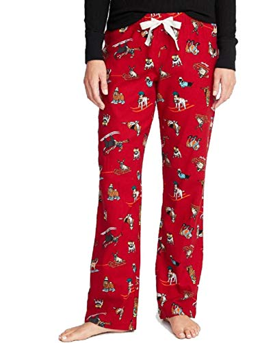(Old Navy Patterned Flannel Sleep Pants for Women (XX-Large, Red Ski)